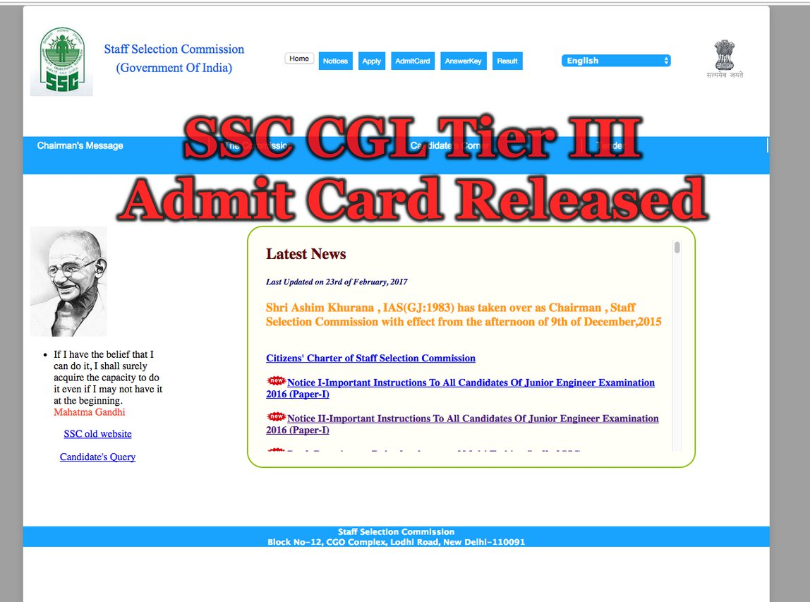 SSC CGL exam 2017: Notification to release on March 11