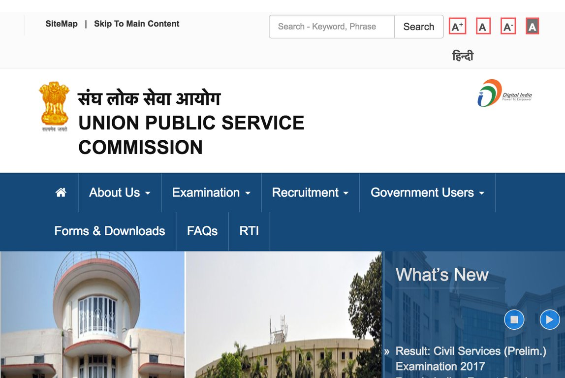 UPSC Civil Services Prelims Results 2017 Declared at Site @upsc