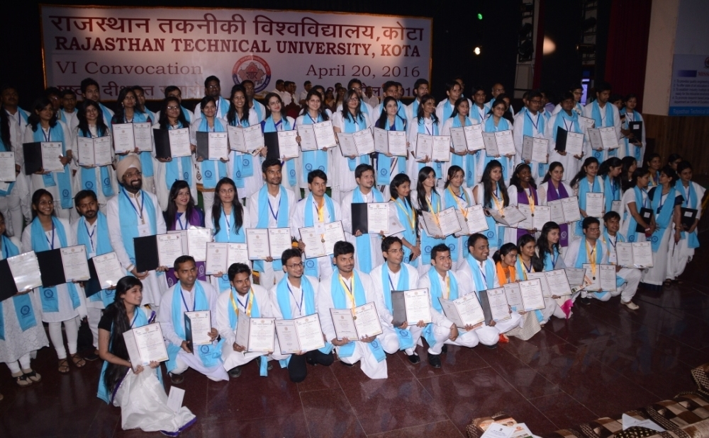 Convocation gowns and hats give way to Indian attire in