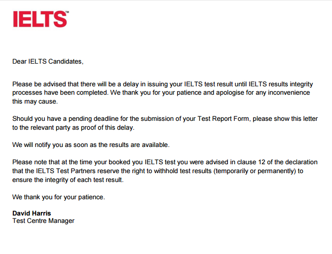 Students panic due to IELTS results delay
