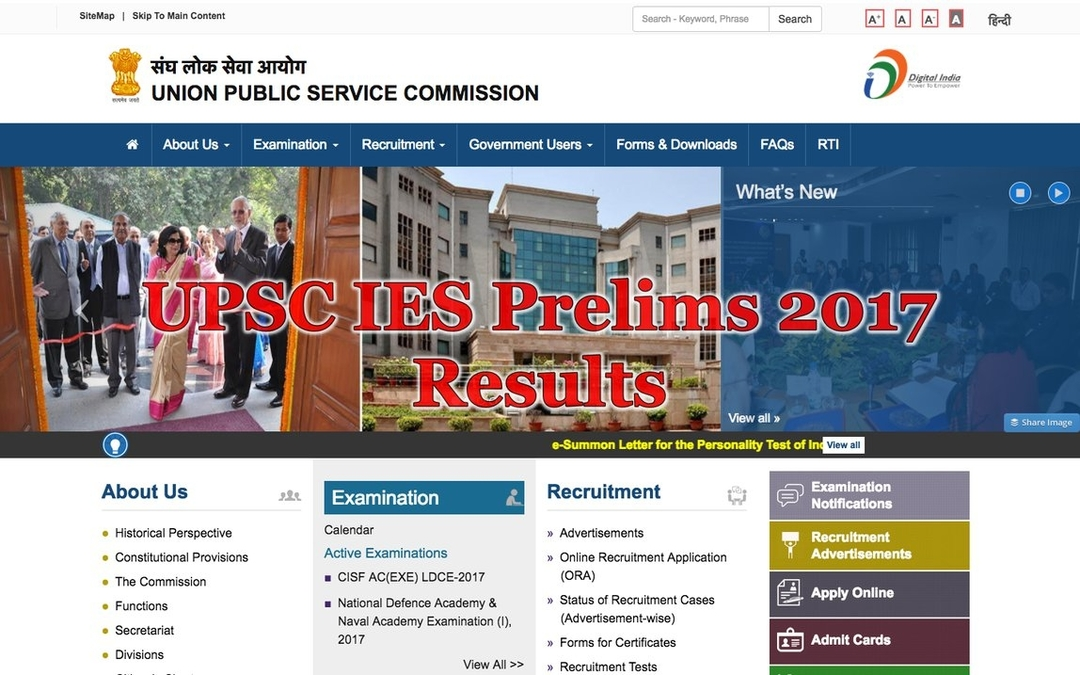 UPSC IES Prelims Result 2017 declared: Check your roll number here