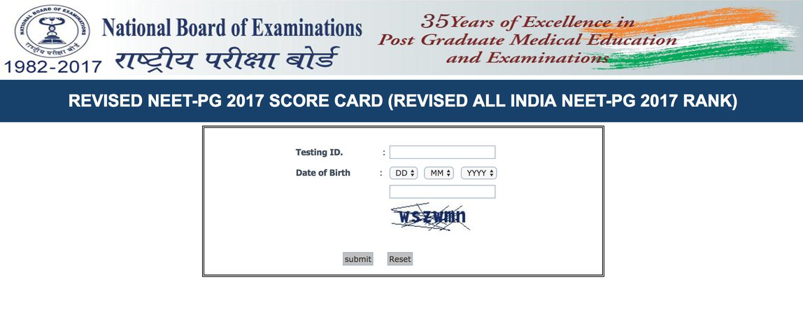 NEET PG revised results 2017 declared, download your result here